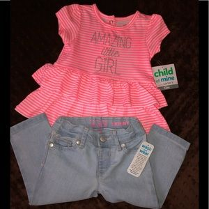 🆕💥Two Piece Shirt and Jeans Set